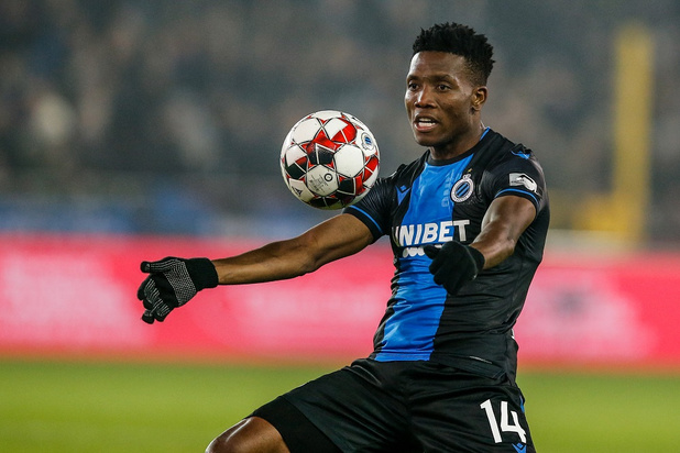Le Club Bruges privé d'Okereke 4 à 6 semaines
