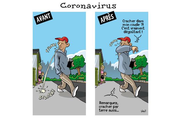 Une campagne pour empêcher les crachats au temps du corona