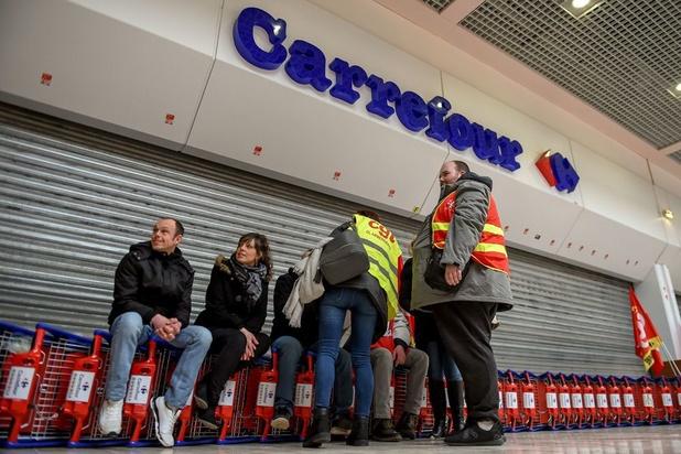 Dix magasins Carrefour ont gardé portes closes vendredi