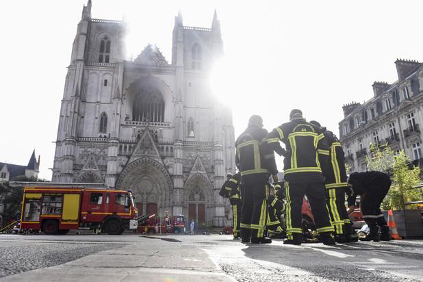 La cathédrale gothique de Nantes endommagée par un incendie