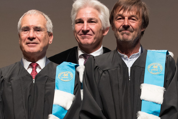 Greta Thunberg, Nicolas Hulot et Nicholas Stern faits docteurs honoris causa par l'Université de Mons