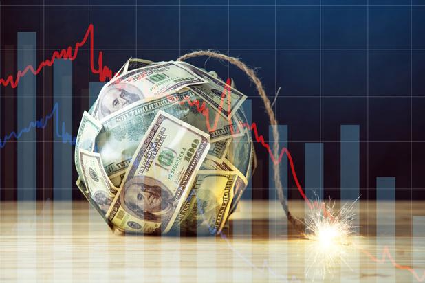 Le concept économique de crise avec... une mèche longue