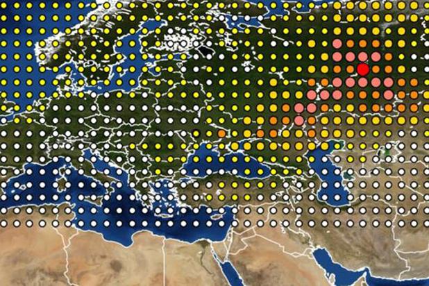 Wetenschappers ontdekken bron van nucleaire wolk boven Europa