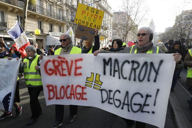 Franse economie lijdt onder stakingen en straatprotest