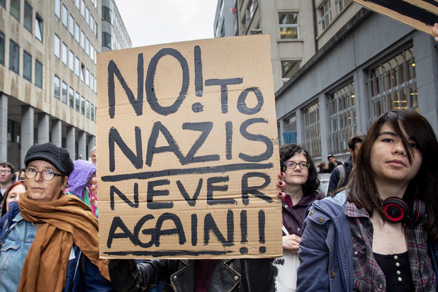 Bruxelles: Plus de 4.000 personnes ont manifesté contre la montée de l'extrême droite