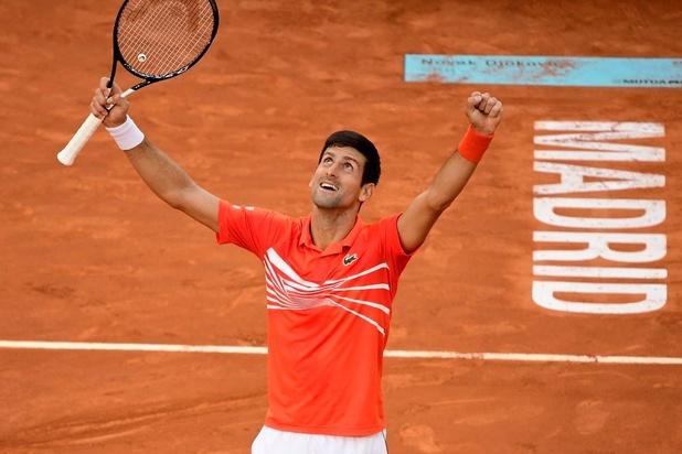 Novak Djokovic s'impose à Madrid et remporte son 33e Masters 1000