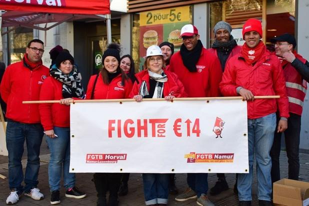 """Salaire horaire à 14 euros: """"La FGTB demande la lune"""""""