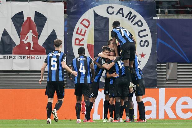 Ligue des Champions: le Club de Bruges réussit l'exploit à Leipzig et partage la tête avec le PSG