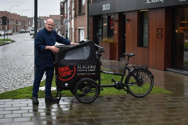 Slagerij Colin & Sabine bestaat 20 jaar en blijft met de bakfiets aan huis leveren