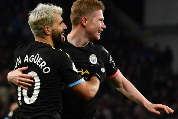 Deux assists pour De Bruyne, deux records pour Agüero: Man City cartonne à Aston Villa