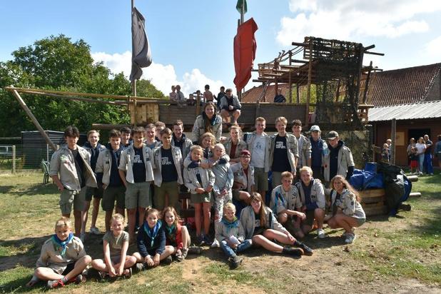 Scouts Gullegem-Moorsele pakken uit met gesjorde boot