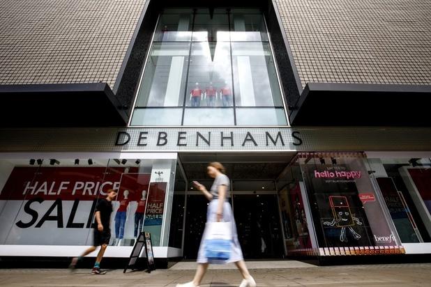 Faillite des magasins Debenhams qui passent sous contrôle des créanciers