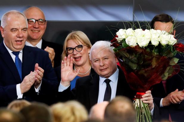 Conservatieve regeringspartij behoudt absolute meerderheid na verkiezingen in Polen