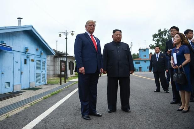 Ontmoeting Trump en Kim Jong-un: eerste Amerikaanse president ooit op Noord-Koreaanse bodem