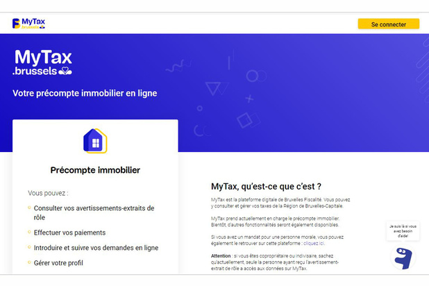 A Bruxelles, on peut gérer son précompte immobilier en ligne