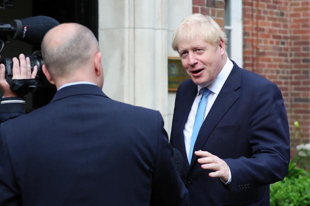 Ook moeizame doortocht in Belfast voor Boris Johnson