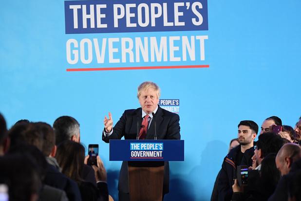 Johnson zorgt met Conservatieven voor aardverschuiving