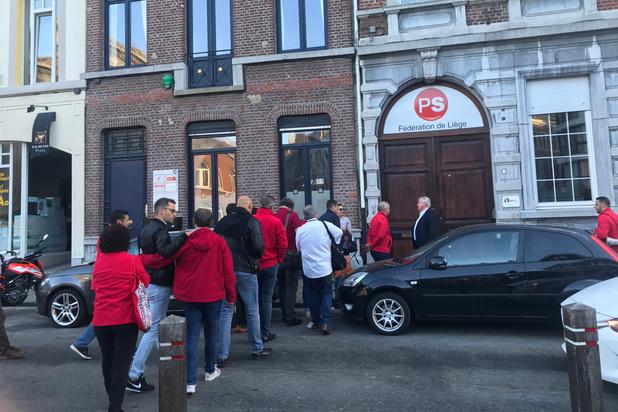 Manifestation à Liège des travailleurs du secteur de l'armement