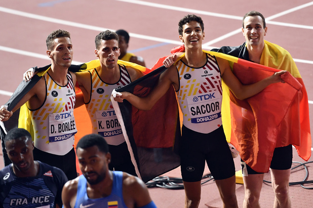 Mondiaux d'athlétisme: Les Belgian Tornados médaille de bronze du 4x400 m
