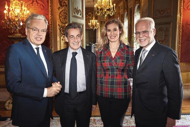 Nicolas Sarkozy au Palais d'Egmont