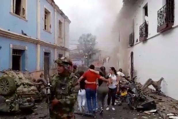 43 gewonden na aanslag met bomauto in Colombia