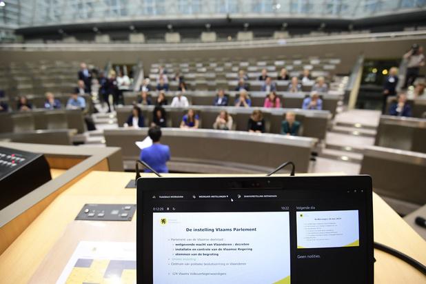 'Eerste schooldag' in het Vlaams Parlement