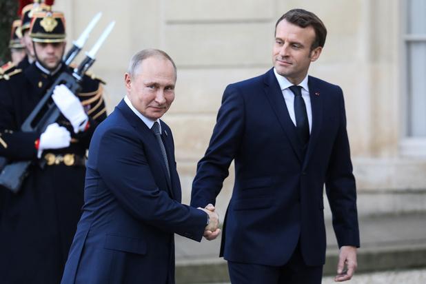 Macron ontvangt Poetin, Zelensky en Merkel in kader van Oekraïne-top