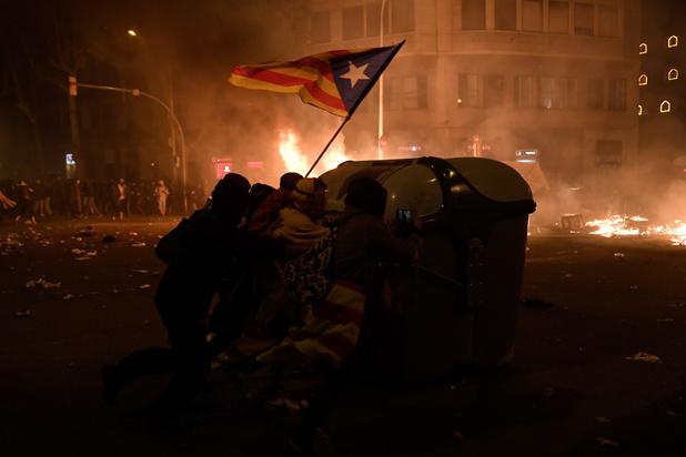 182 gewonden bij rellen in Catalonië
