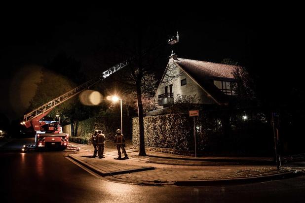 Schoorsteenbrand in Bellegem zorgt voor heel wat bekijks
