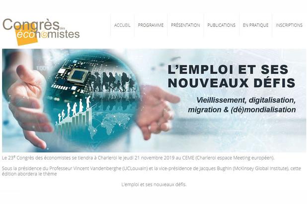 Les économistes réunis en congrès à Charleroi pour aborder l'emploi et ses nouveaux défis