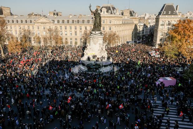 Manifestations contre une loi sécuritaire en France