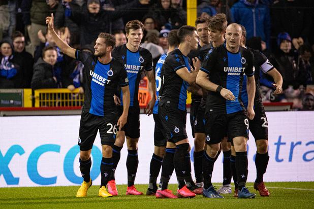 Le Club de Bruges s'impose sur le fil face à Waasland-Beveren