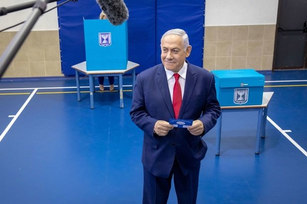Verkiezingen Israël: Zowel Netanyahu als Gantz claimen overwinning na exitpolls
