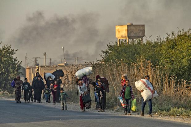 Plus de 60.000 déplacés par l'offensive turque dans le nord-est de la Syrie