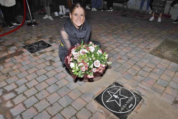 Ster voor Laura Tesoro op de 'Story Walk of Fame' op de avond van haar liveconcert