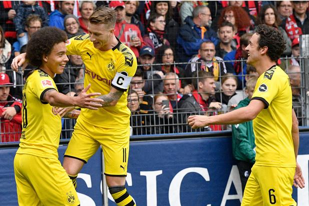 Thorgan Hazard donneur d'assist et Axel Witsel buteur avec Dortmund