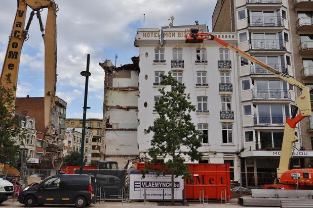 Sloophamer maakt einde aan iconische hotel Mon Bijou in De Panne