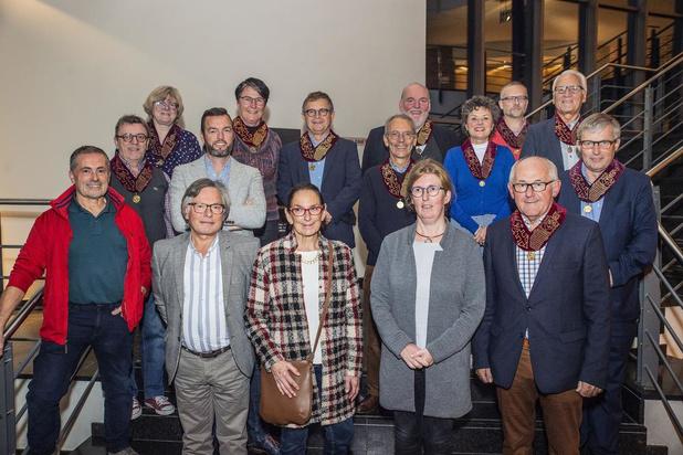 Scala en Free Souffriau tijdens kerstconcert Gilde der Erepoorters in Roeselare