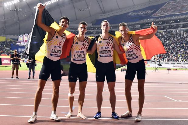 Belgian Tornados veroveren brons in finale 4x400m op WK atletiek