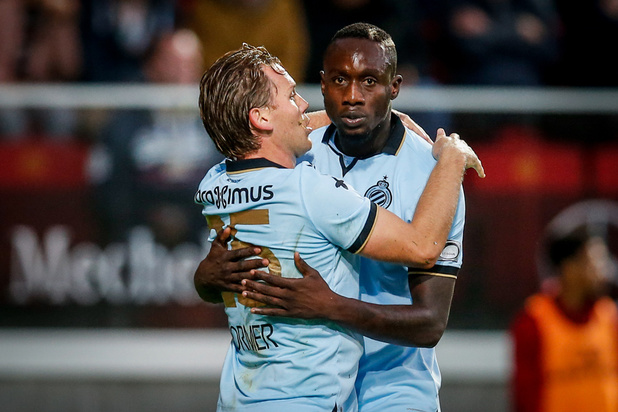Le Club de Bruges surclasse Malines et reprend la tête du classement