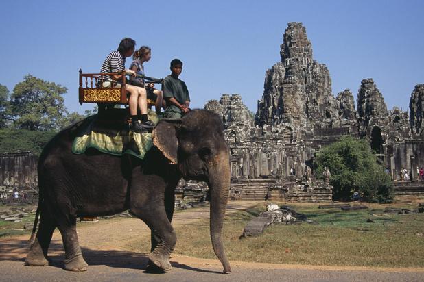 Les très controversées balades à dos d'éléphants désormais interdites à Angkor