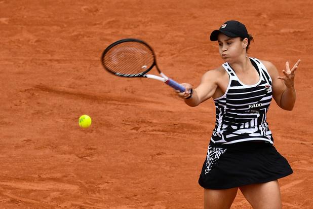 Ashley Barty en Marketa Vondrousova spelen vrouwenfinale Roland Garros