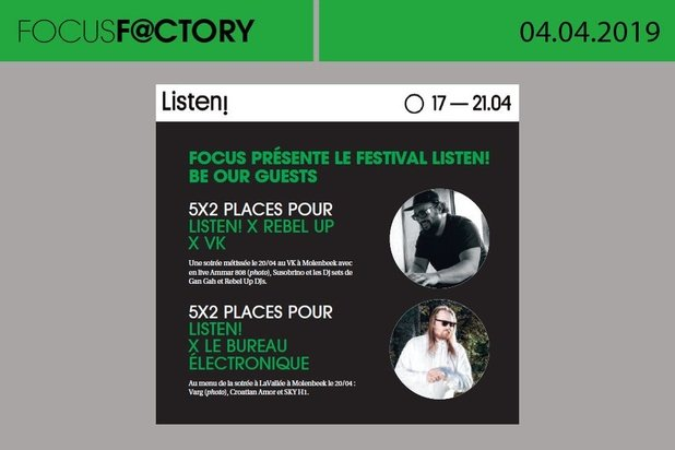 Cette semaine, Focus Factory vous offre des places de festival !