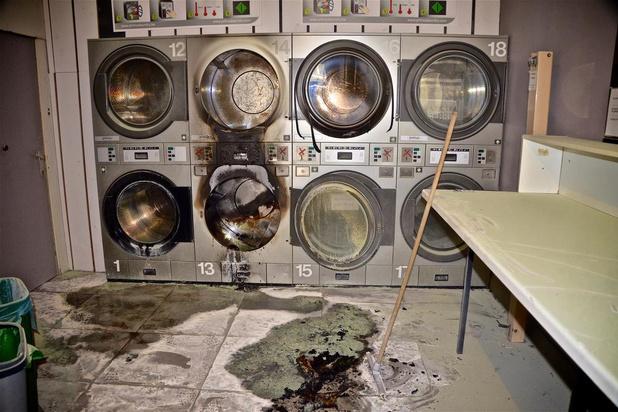 Veel schade na brand in Oostends wassalon