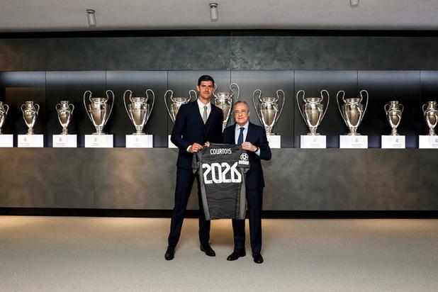 Thibaut Courtois tot 2026 bij Real Madrid: 'Dit is een eer'