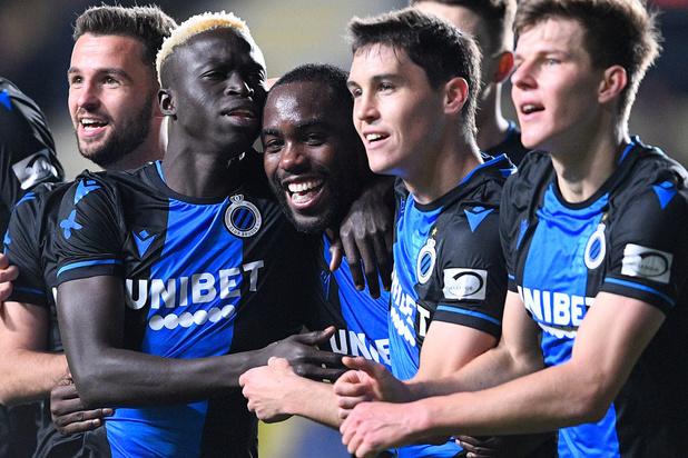 Le Club Bruges émerge en fin de match à Saint-Trond