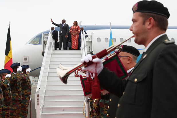 Arrivée du président congolais Félix Tshisekedi pour sa première visite en Europe