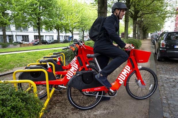 Uber déploie 500 de ses vélos électriques partagés Jump à Bruxelles