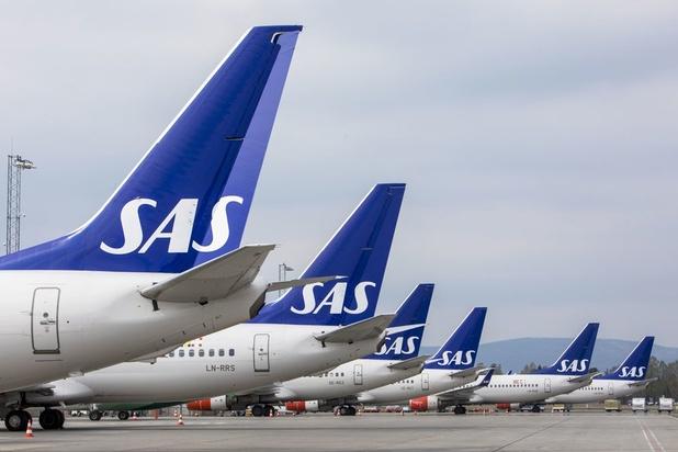 Luchtvaartmaatschappij SAS schrapt zondag 587 vluchten door staking piloten