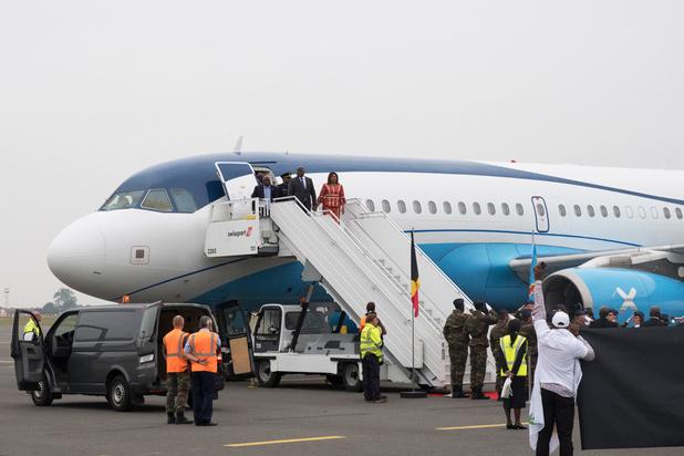 Congolese president Tshisekedi aangekomen in België